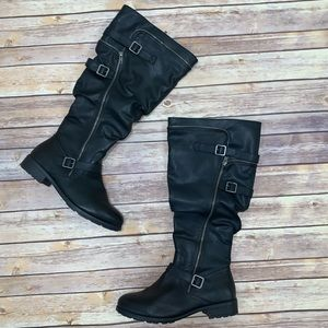 Roxy Wide Calf Riding Boot Knee High With Width